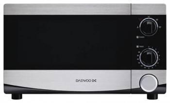 Микроволновая Печь Daewoo KOR-6L45 черный/серебристый, мощность 700Вт, объем 20л, механическое управление