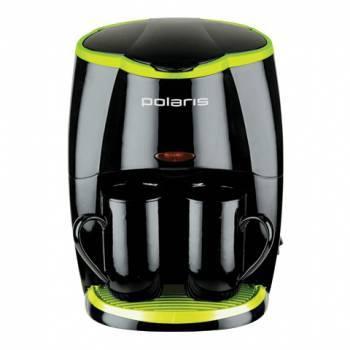 Кофеварка капельная Polaris PCM0210 черный/салатовый