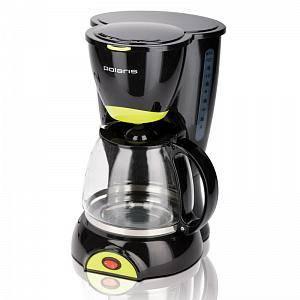 Кофеварка капельная Polaris PCM1211 черный/салатовый
