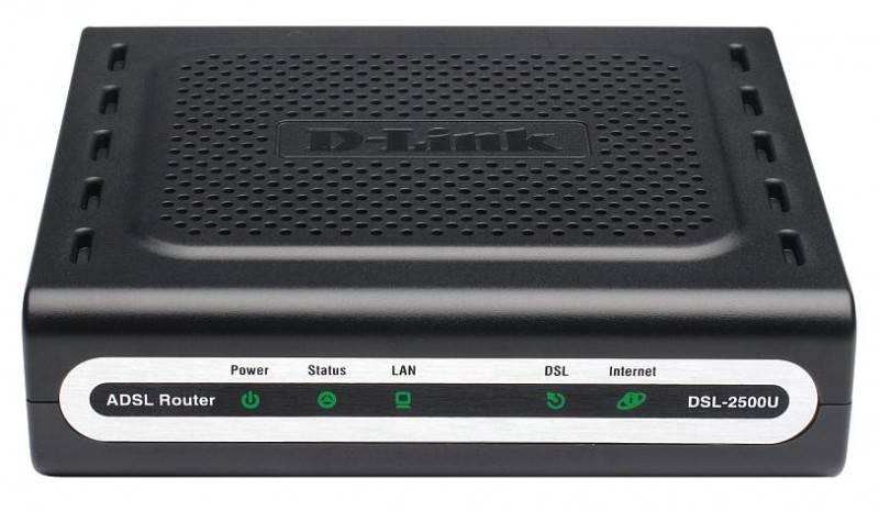 Модем xDSL D-Link DSL-2500U/BRC/D4 RJ-45 черный - фото 1