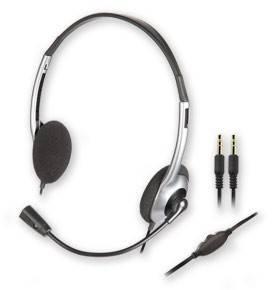 Наушники с микрофоном Creative HS-320 серебристый / черный