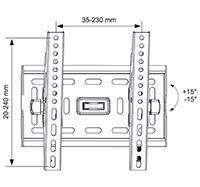 Кронштейн для телевизора Arm Media PT-6 черный - фото 2