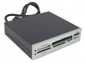 Картридер USB2.0 Acorp CRIP200-S серебристый