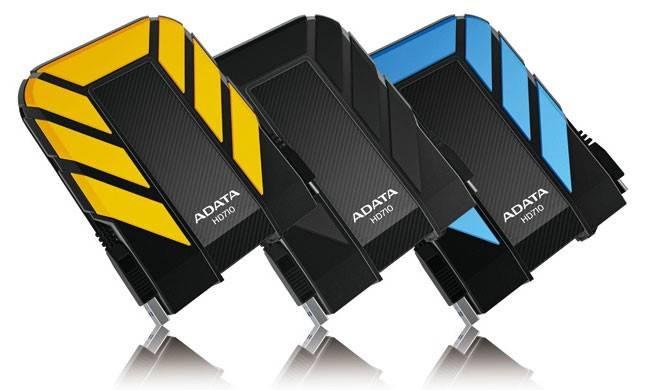 Внешний жесткий диск 1Tb A-Data DashDrive Durable HD710 желтый USB 3.0 (AHD710-1TU3-CYL) - фото 1
