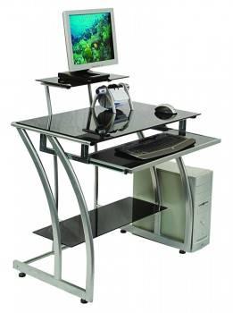 Стол компьютерный Бюрократ GD-010 черный