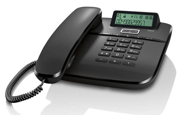 Телефон Gigaset DA610 черный - фото 1