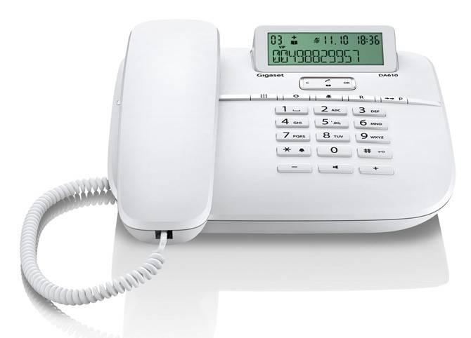 Телефон Gigaset DA610 белый - фото 2