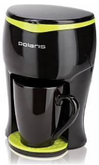 Кофеварка капельная Polaris PCM0109 черный/салатовый