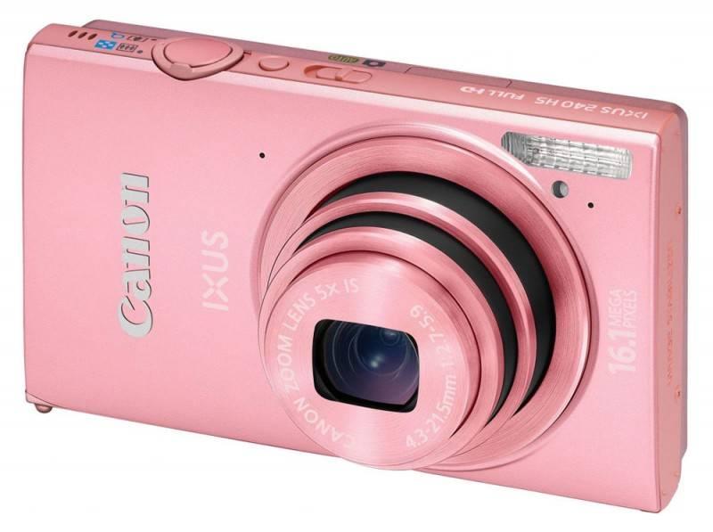 Фотоаппарат Canon IXUS 240 HS розовый - фото 1