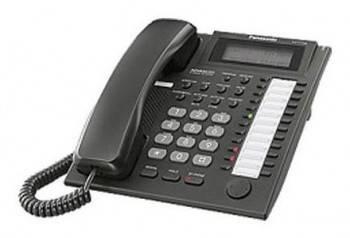 Системный телефон аналоговый Panasonic KX-T7735RUB черный