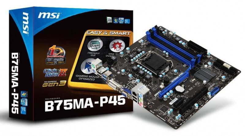 Материнская плата Soc-1155 MSI B75MA-P45 mATX - фото 4