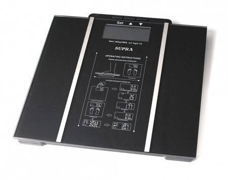 Весы напольные электронные Supra BSS-6500 черный - фото 1