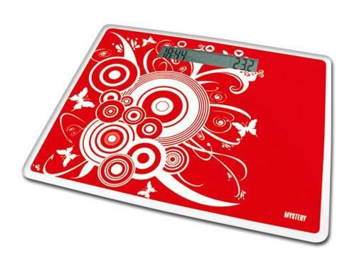 Весы напольные электронные Mystery MES-1809 красный - фото 1