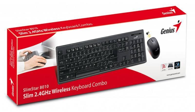 Комплект клавиатура+мышь Genius SlimStar 8010 черный/черный - фото 2