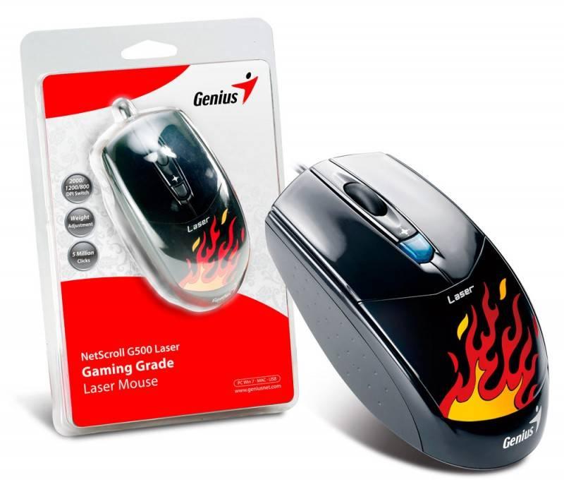 Мышь Genius NetScroll G500 черный/рисунок - фото 3