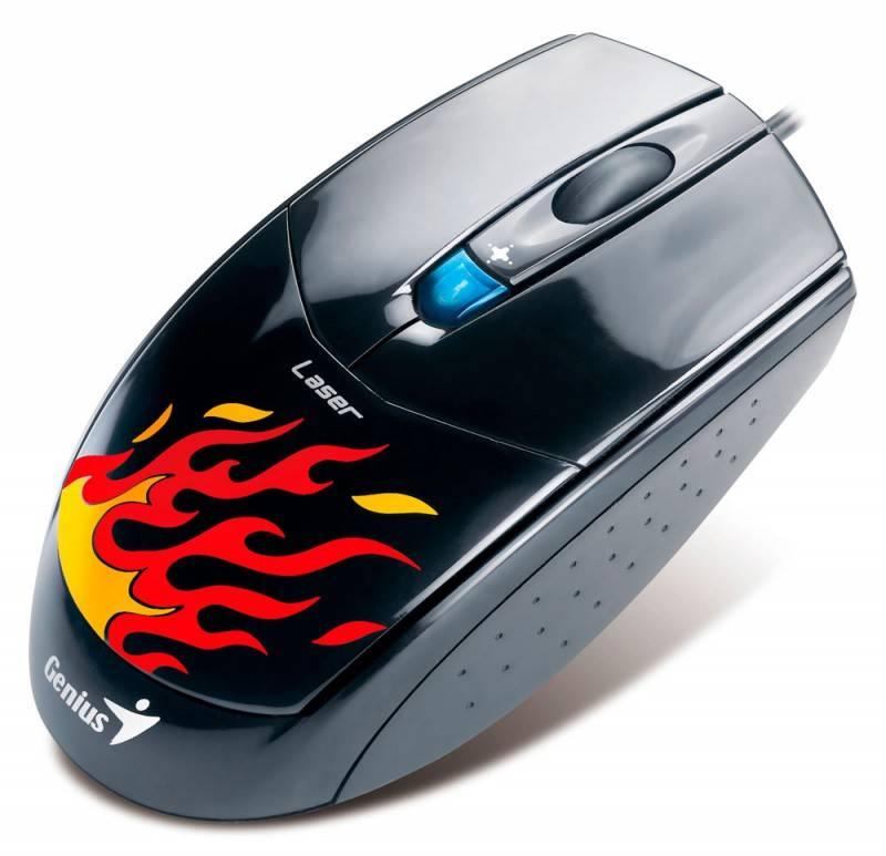 Мышь Genius NetScroll G500 черный/рисунок - фото 1