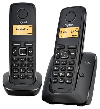 Телефон Gigaset A120 Duo черный - фото 1