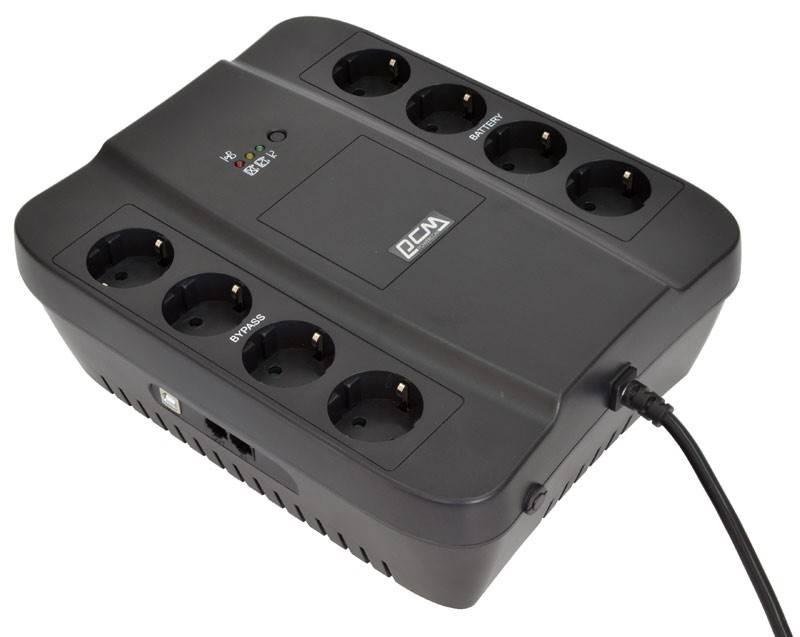 ИБП Powercom SPD-1000U черный - фото 1
