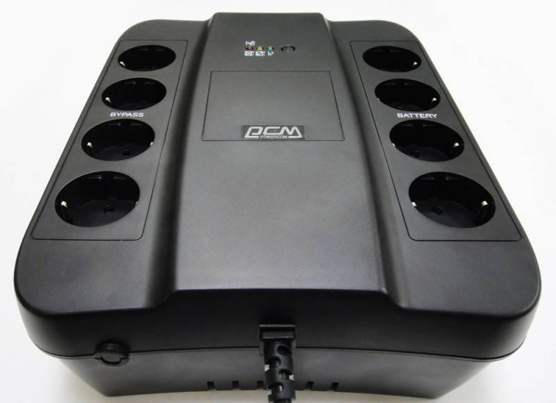 ИБП Powercom SPD-1000U черный - фото 2