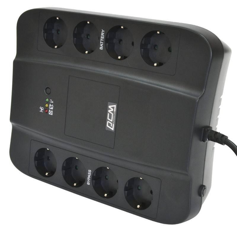 ИБП Powercom SPD-1000U черный - фото 3