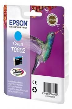 Картридж струйный Epson T0802 C13T08024011 голубой