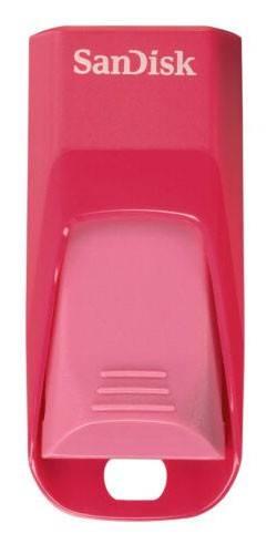 Флеш диск Sandisk Cruzer Edge 16ГБ USB2.0 белый/розовый - фото 2