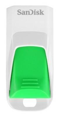 Флеш диск 32Gb Sandisk Cruzer Edge USB2.0 зеленый - фото 1