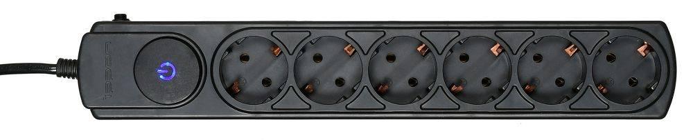 Сетевой фильтр Ippon BK212 1.8м черный - фото 2