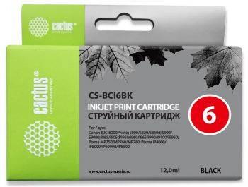Картридж струйный Cactus CS-BCI6BK черный