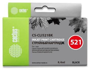 Картридж струйный Cactus CS-CLI521BK черный
