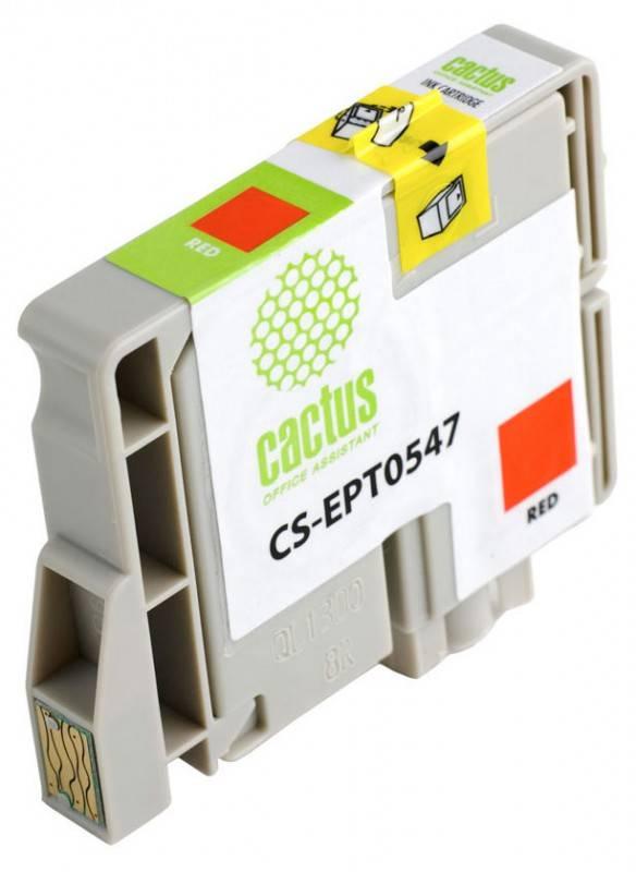 Картридж струйный Cactus CS-EPT0547 красный - фото 2