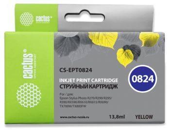 Картридж струйный Cactus CS-EPT0824 желтый