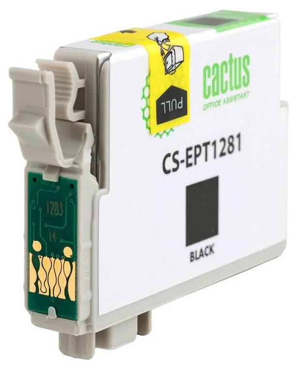 Картридж струйный Cactus CS-EPT1281 черный - фото 2