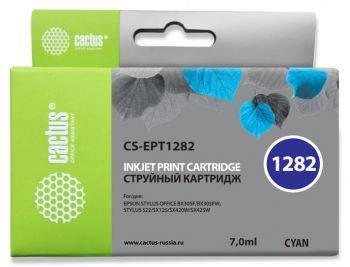 Картридж струйный Cactus CS-EPT1282 голубой
