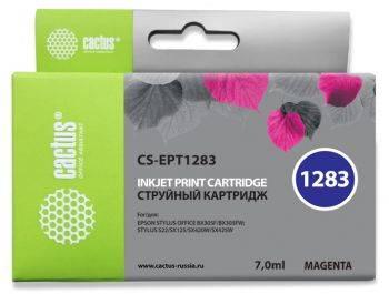 Картридж струйный Cactus CS-EPT1283 пурпурный