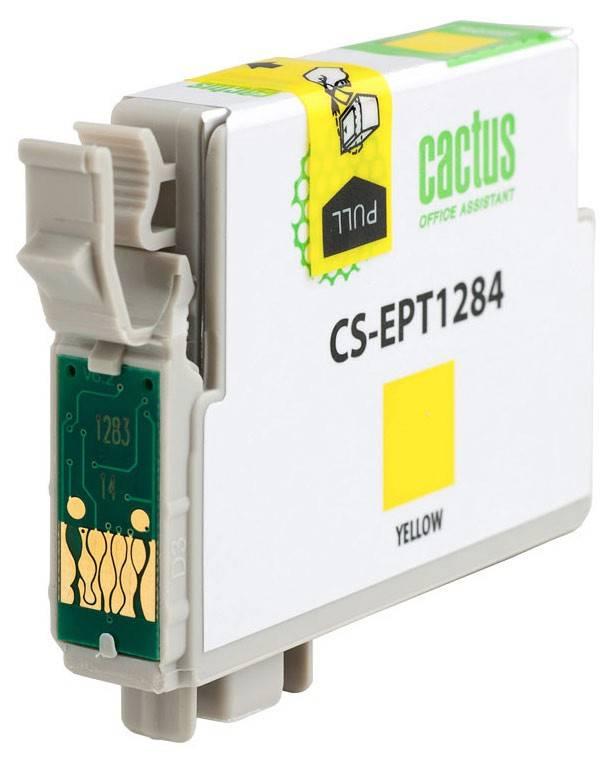 Картридж струйный Cactus CS-EPT1284 желтый - фото 2