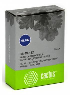 Картридж ленточный Cactus CS-ML182 черный