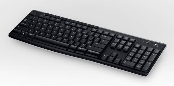 Клавиатура Logitech K270 черный/белый - фото 2