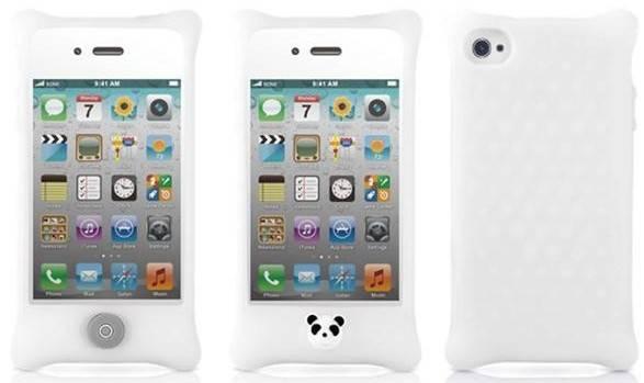 Чехол Bone Phone Bubble 4S белый силикон противоударный для iPhone 4S (PH11011-W) - фото 1