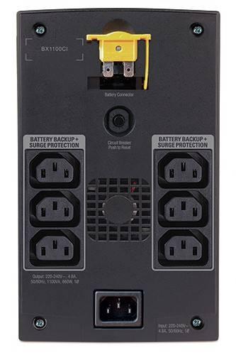 ИБП APC Back-UPS BX1100CI черный - фото 2