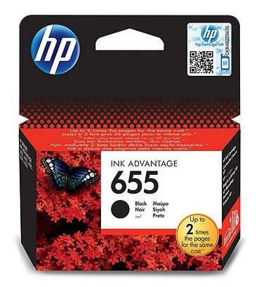 Картридж струйный HP 655 CZ109AE черный - фото 1