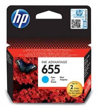 Картридж струйный HP 655 CZ110AE голубой