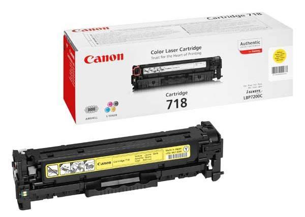 Тонер Картридж Canon 718Y 2659B002 желтый - фото 1