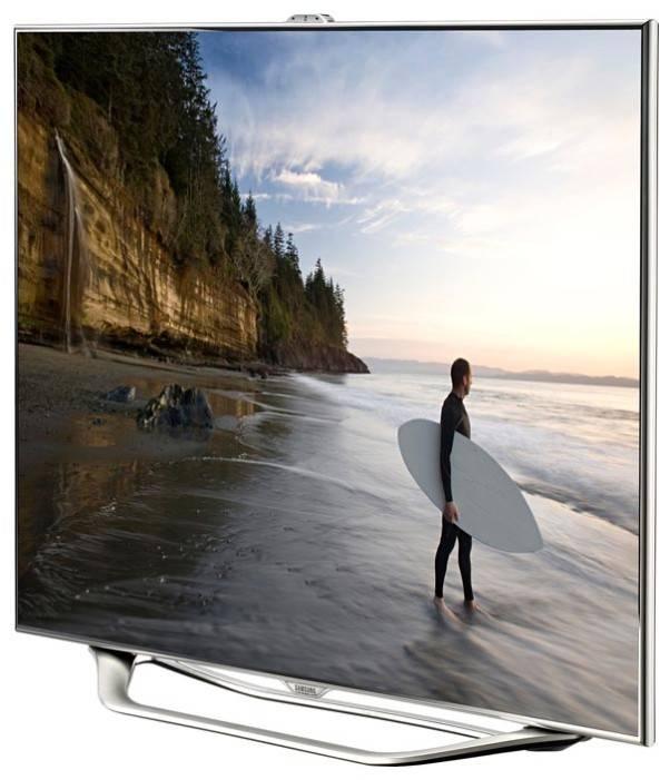 "Телевизор LED 46"" Samsung UE46ES8007U серебристый - фото 2"
