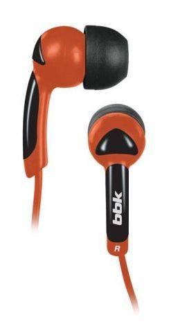 Наушники BBK EP-1401S черный/оранжевый - фото 1