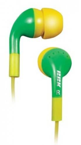 Наушники BBK EP-1410S желтый/зеленый - фото 1