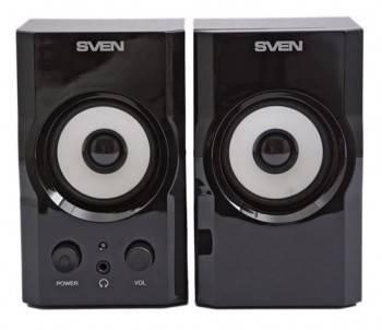 Акустическая система 2.0 Sven SPS-605 черный