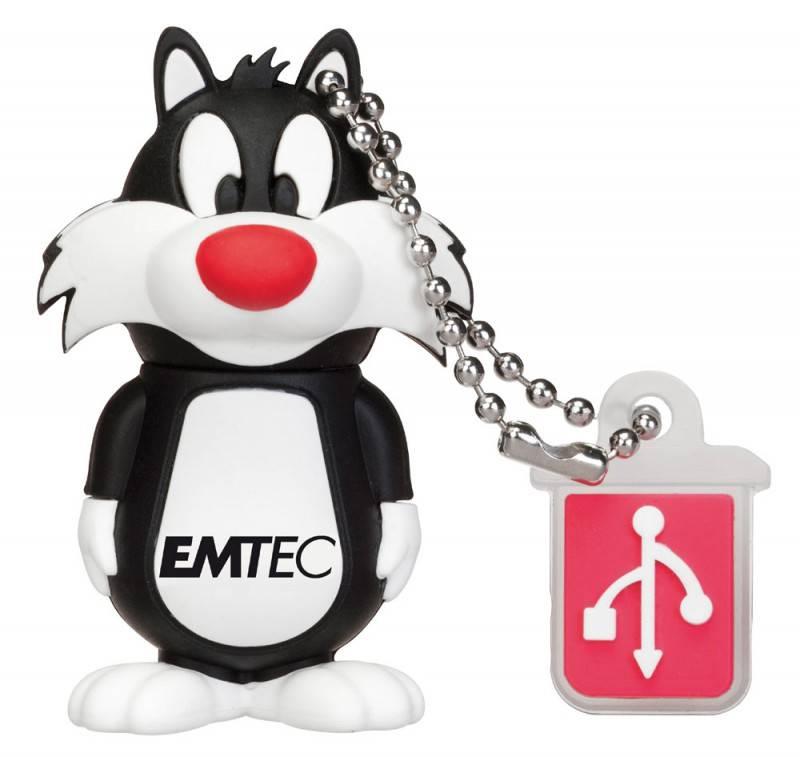 Флеш диск 8Gb Emtec L101 Sylvester USB2.0 белый/черный - фото 1