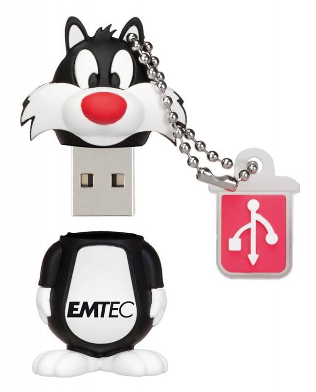 Флеш диск 8Gb Emtec L101 Sylvester USB2.0 белый/черный - фото 2