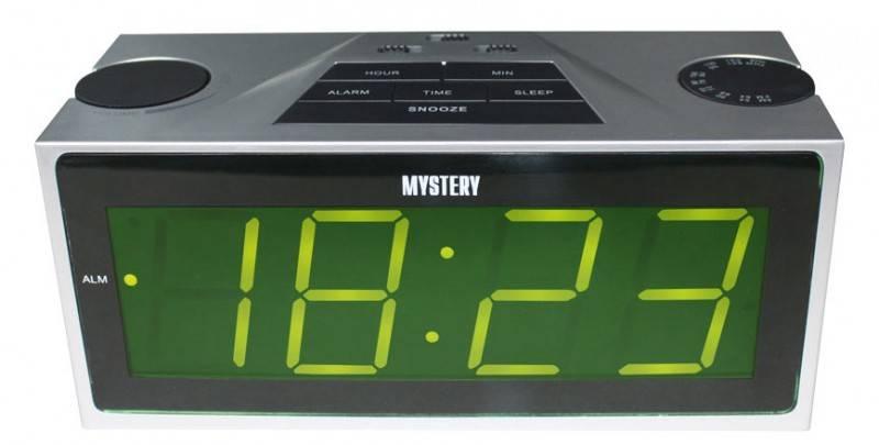 Радиобудильник Mystery MCR-62 серебристый - фото 1